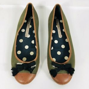 Marc By Marc Jacobs Size 39 9 Green Brown Flats